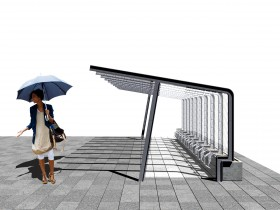 Image for green bike shelter, 2009